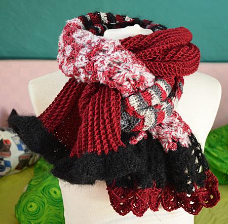 jasse sjaal rood zwart 024