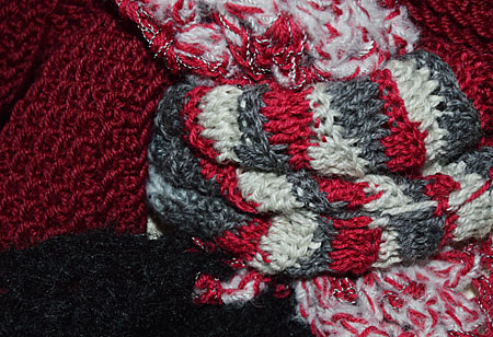 jasse sjaal rood zwart 025