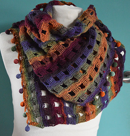 sjaal herfst bolletjes 003