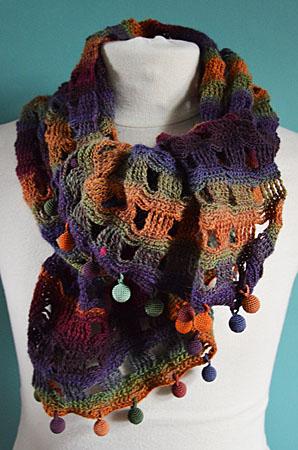 sjaal herfst bolletjes 004