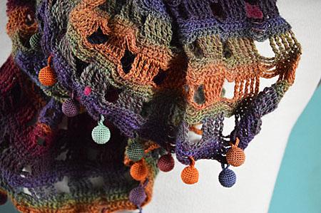 sjaal herfst bolletjes 005